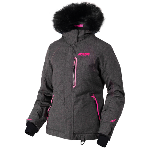 FXR Pursuit Womens Jacket Herringbone Elec Pink