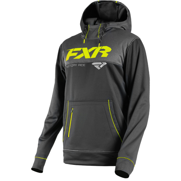 FXR Pursuit Tech Pullover Hoodie Black HiVis