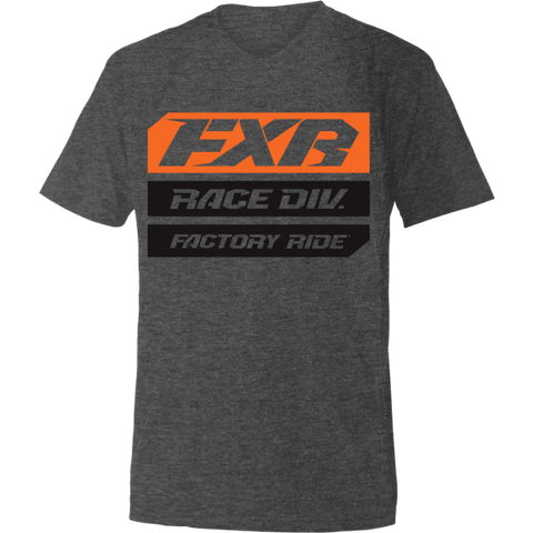 FXR Race Division Tee Charcoal Orange