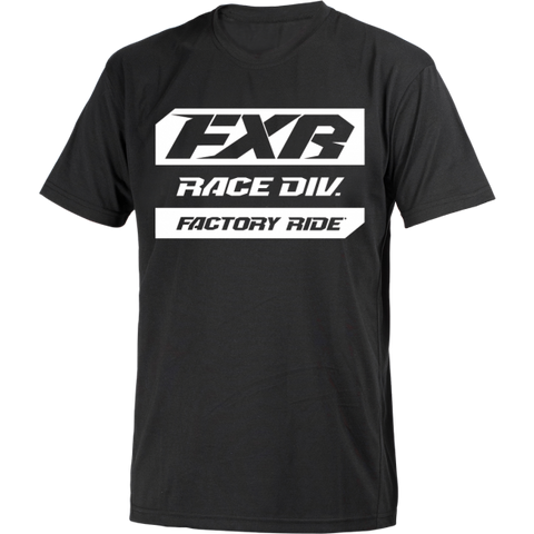 FXR Race Division Tee Black White
