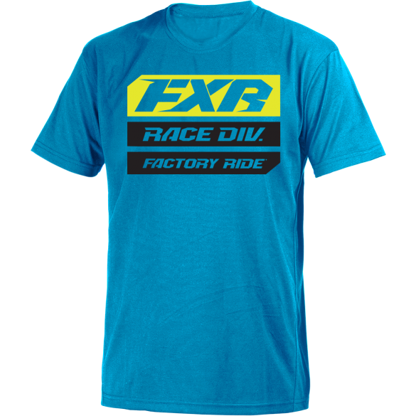 FXR Race Division Tee Blue HiVis