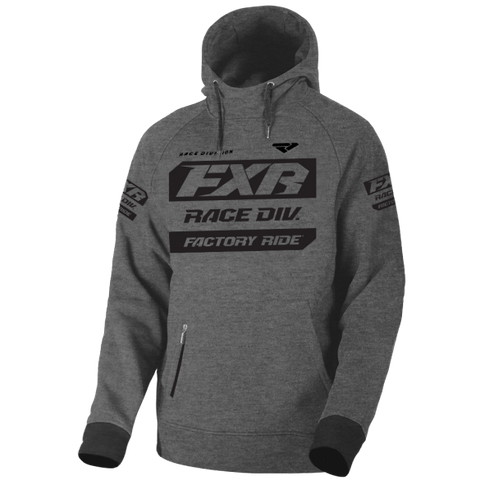 FXR Race Division Pullover Hoody Heather Black