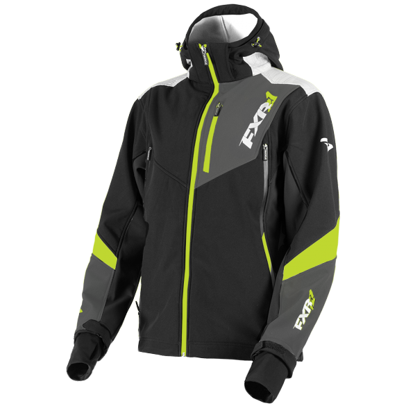 FXR Renegade 2019 Softshell Jacket Black Lime