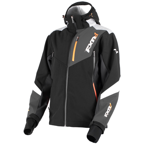 FXR Renegade 2019 Softshell Jacket Black Orange