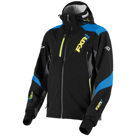 FXR Renegade Softshell Black/Blue/HiVis