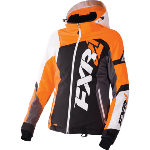 FXR Revo X Womens Jacket Black/ElectricTangerine/White