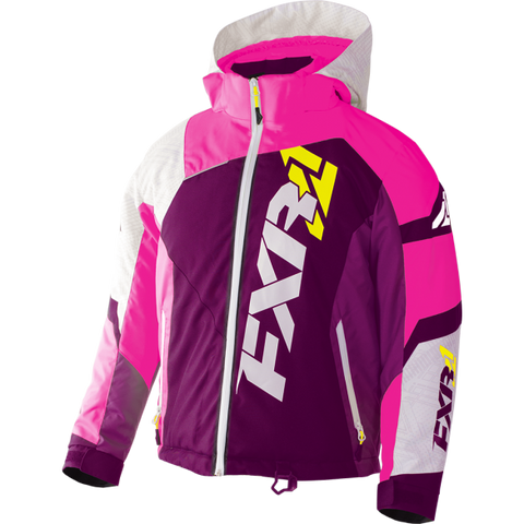 FXR Revo X Youth Jacket Berry/Wht/ElecPnk