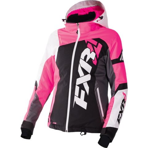 FXR Revo X Womens Jacket Black/ElecPink/White