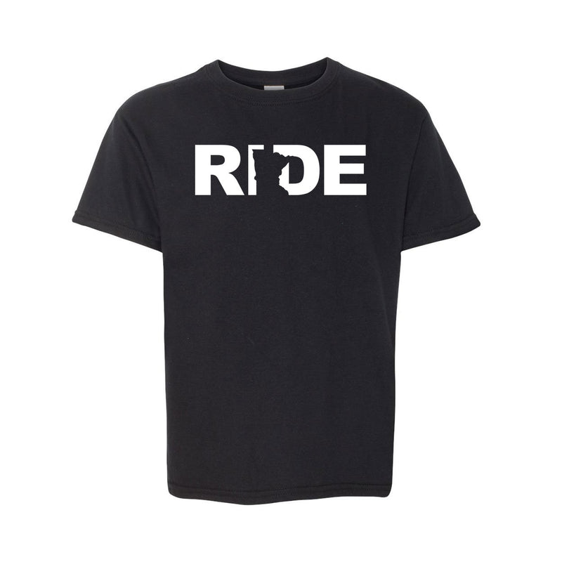 Ride MN Youth Tee Black/White