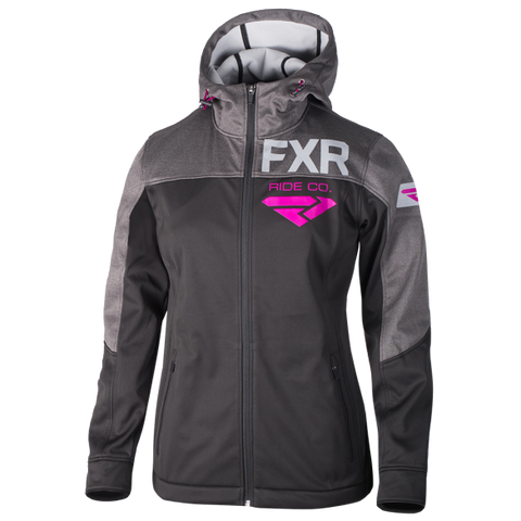 FXR Ride Co Womens Softshell Black Fuchsia