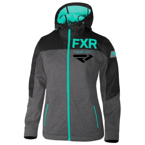 FXR Ride Co Womens Softshell Charcoal Mint