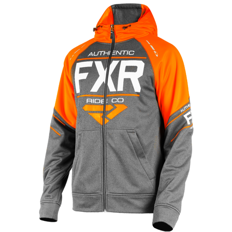 FXR Ride Tech Zip Hoody Charcoal Orange