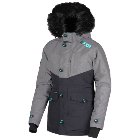 ac9a2240 FXR Svalbard 2019 Womens Parka Heather Mint