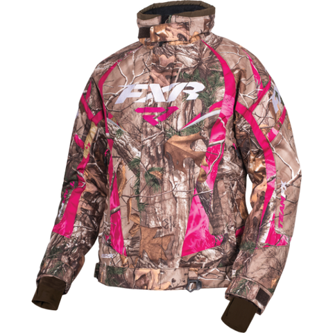 FXR Team Womens Jacket Realtree Xtra Fuchsia