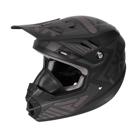FXR Throttle Battalion Youth Helmet Black Ops