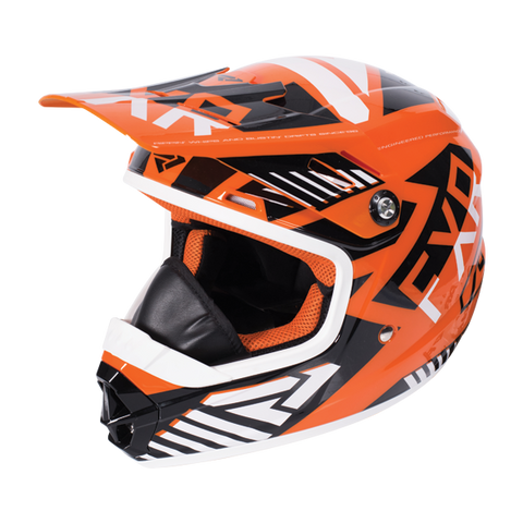 FXR Throttle Battalion Youth Helmet Org/Blk/Wht