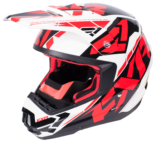 FXR Torque Core Helmet Red/Wht