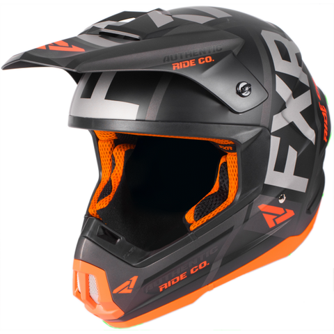 FXR Torque Evo 2019 Helmet Black Orange