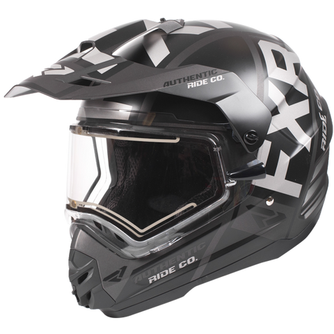 FXR Torque Evo Electric Shield Helmet Black Ops