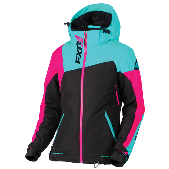 FXR Vertical Edge Womens Jacket Mint/Electric Pink