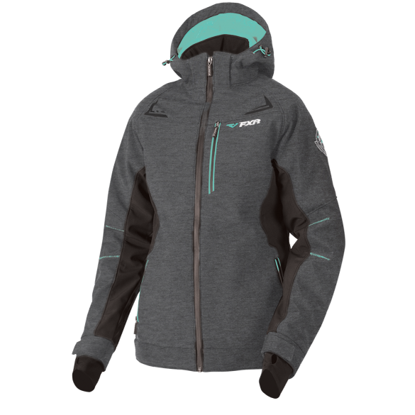 FXR Vertical Pro 2019 Womens Insulated Softshell Heather