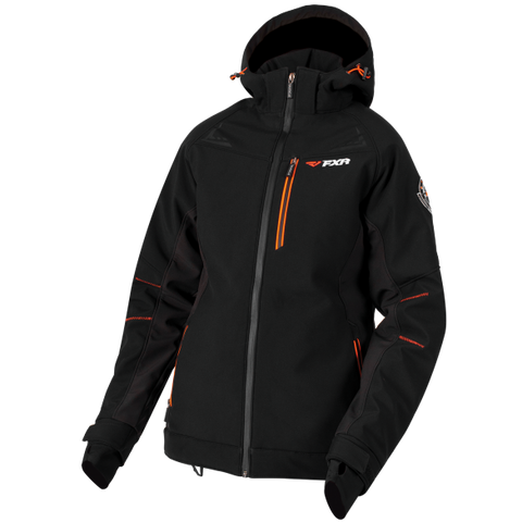 FXR Vertical Pro Softshell Jacket Black/Tangerine