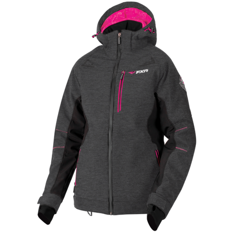 FXR Vertical Pro Softshell Jacket Heather/Fuchsia