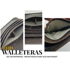 The walleteras Difference - RFID Protection all the time even when your wallet is open