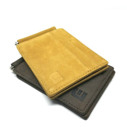 RFID Slim Spring Money Clip Wallet - Front Pocket Credit Card Holder Money Clip Walleteras Honey