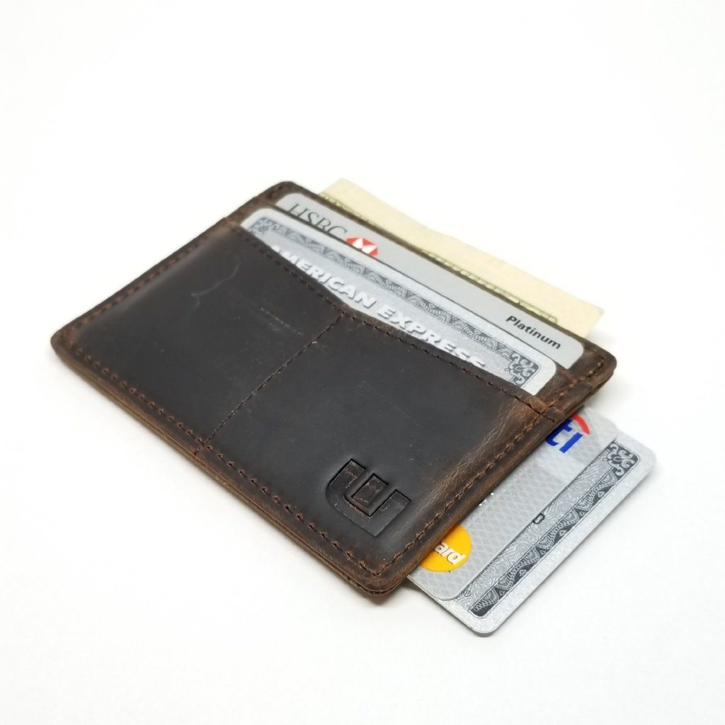 "RFID Minimalist Front Pocket Wallet / Credit Card Holder with ID Window - Espresso ""M"" RFID Credit Card Holder WALLETERAS Coffee M"