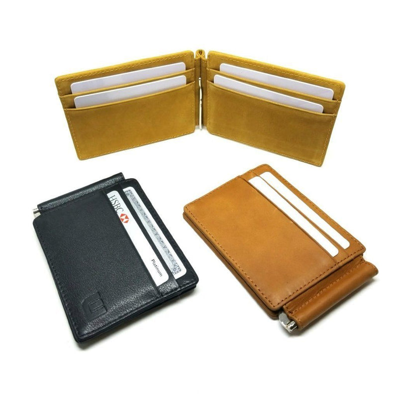 RFID Slim Spring Money Clip Wallet - Front Pocket Credit Card Holder Money Clip Walleteras