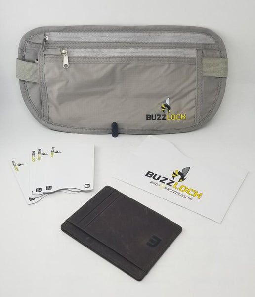 WALLETERAS - RFID Travel Bundle - Money Belt and Front Pocket Wallet. WALLETERAS