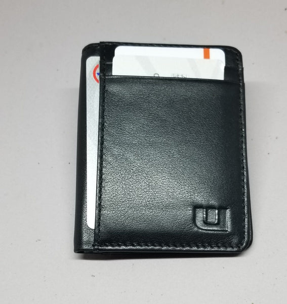 Bifold Leather Wallet w/RFID and ID Window. WALLETERAS