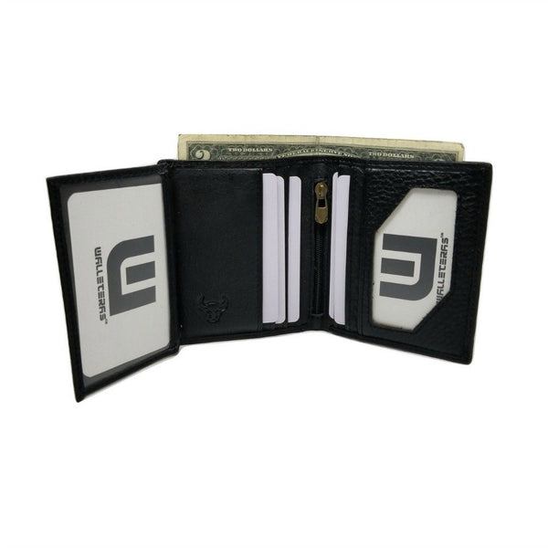 Mini-Wallet Vertical Style with Zippered Compartment Bi-Fold wallet WALLETERAS