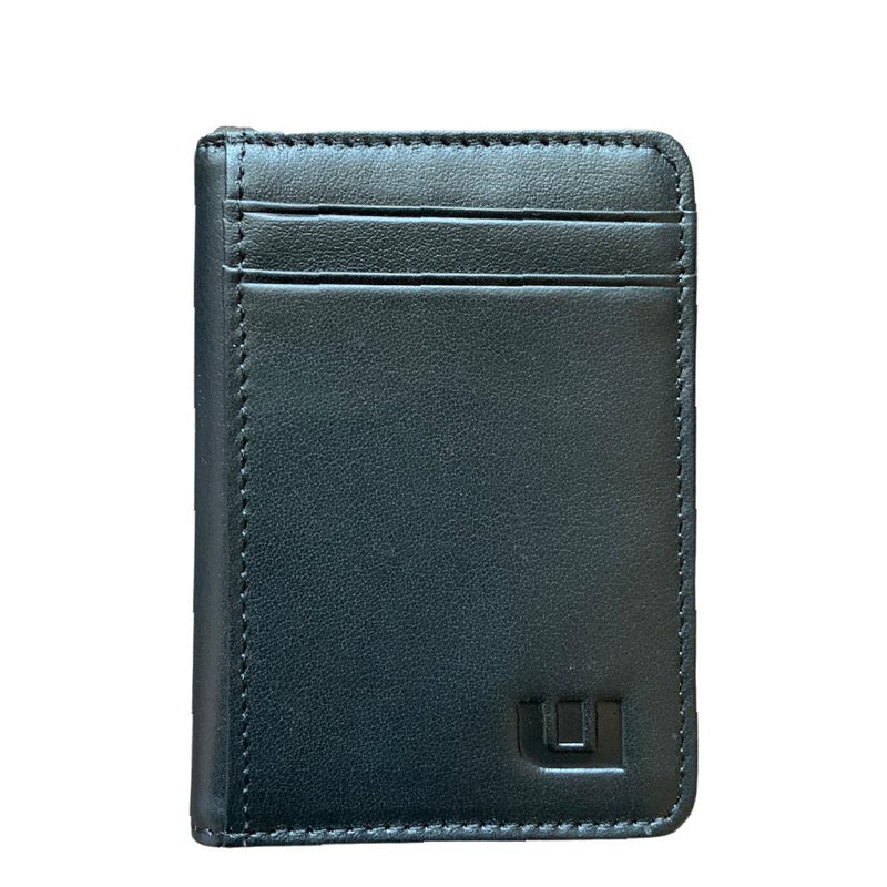 2 ID Front Pocket Leather Wallet - S2-E Front Pocket Wallet WALLETERAS Top Grain Black