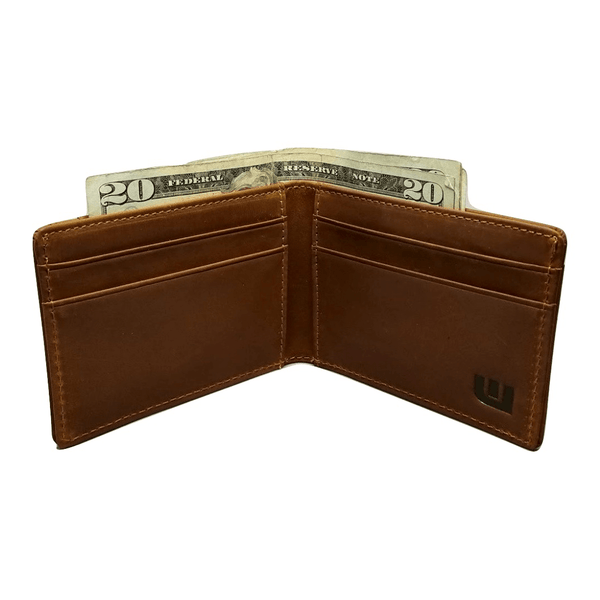 RFID High Capacity Bifold in Crazy Horse Leather / Dark Brown - Preferet RFID Blocking Bi-Fold wallet WALLETERAS