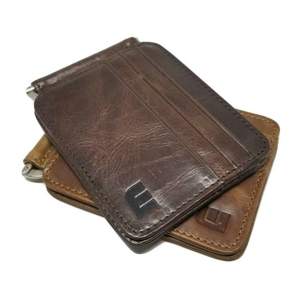 Slim Spring Money Clip Wallet and Credit Card Case Holder Bi-Fold wallet WALLETERAS