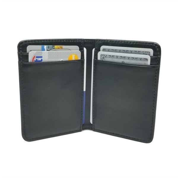 Front Pocket Wallet with RFID in Crazy Horse Leather - Double Espresso -walleteras