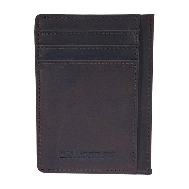 RFID Front Pocket Wallet and Card Holder with ID Window - DEC Credit Card Holder WALLETERAS Coffee T Crazy Horse