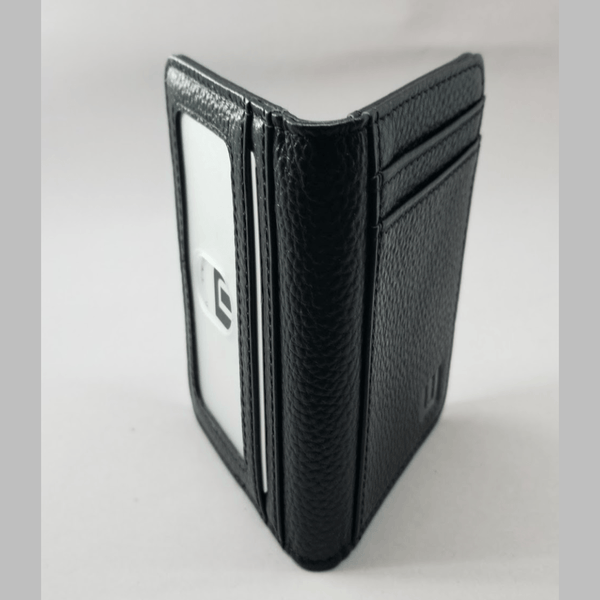 Card Holder with RFID and ID Window - S/ID RFID BiFold Front Pocket Wallet WALLETERAS S/ID Black Pebble