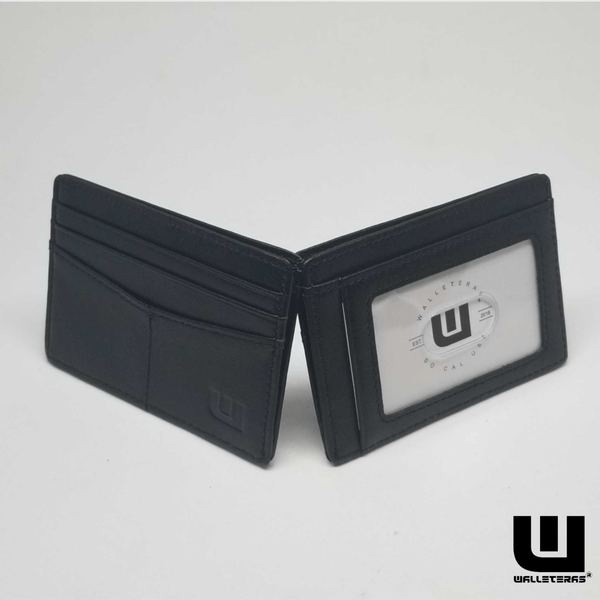 Best Thin Card Holder with RFID Protection - Black - EPEX-1 Credit Card Holders WALLETERAS