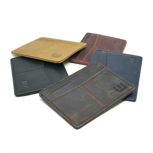 "RFID Minimalist Front Pocket Wallet / Credit Card Holder with ID Window - Espresso ""M"" RFID Credit Card Holder WALLETERAS"