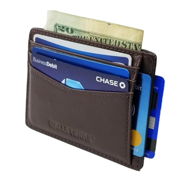 RFID Front Pocket Wallet and Card Holder - Otto RFID Credit Card Holder WALLETERAS Burnt Sienna