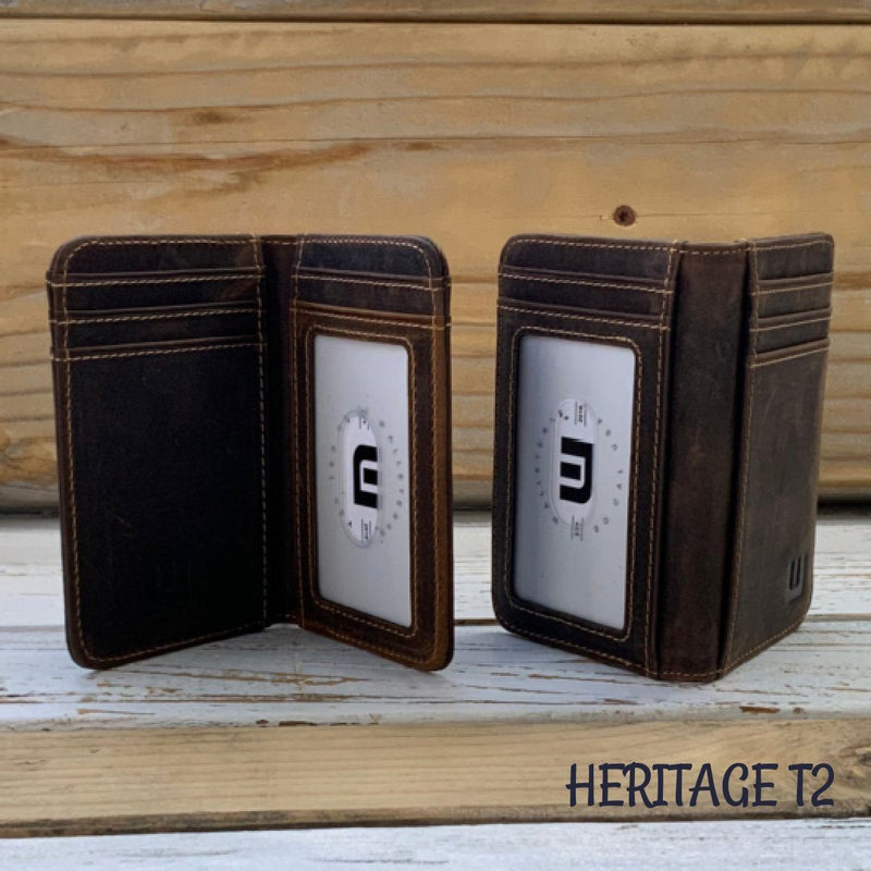2 ID Front Pocket Leather Wallet - Heritage T2 Front Pocket Wallet WALLETERAS