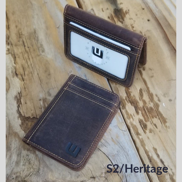 2 ID Front Pocket Leather Wallet - S2 Front Pocket Wallet WALLETERAS