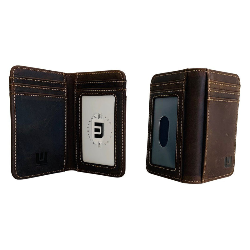 2 ID Front Pocket Leather Wallet - Heritage T2 Front Pocket Wallet WALLETERAS Coffee RFID