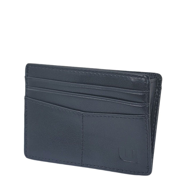 Best Thin Card Holder with RFID Protection - Black - EPEX-1 Credit Card Holders WALLETERAS Black Top Grain