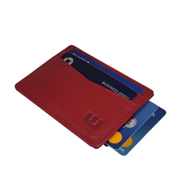 small card holder in red color