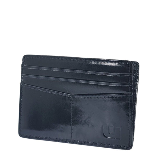 Best Thin Card Holder with RFID Protection - Black - EPEX-1 Credit Card Holders WALLETERAS Black Waxed Leather