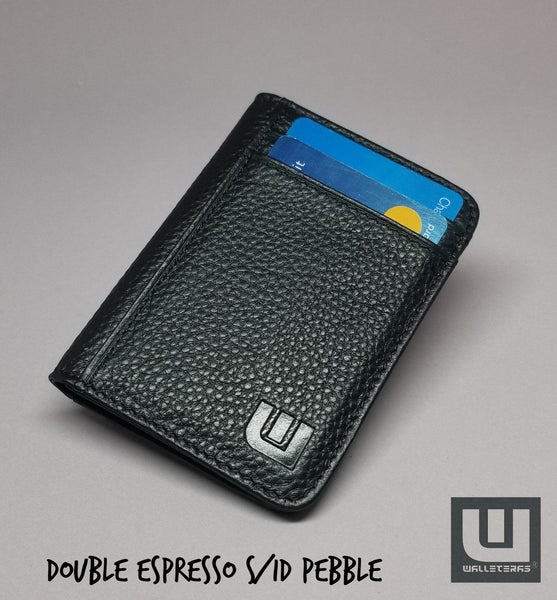 Card Holder with RFID and ID Window - S/ID RFID BiFold Front Pocket Wallet WALLETERAS S/ID Blk Pebble